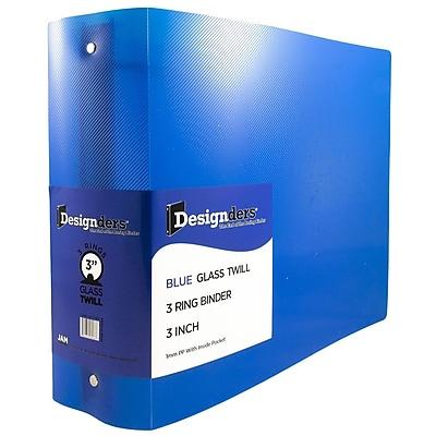 JAM Paper® Plastic 3 Ring Binder, 3 Inch, Blue, Sold Individually (821T3BU)