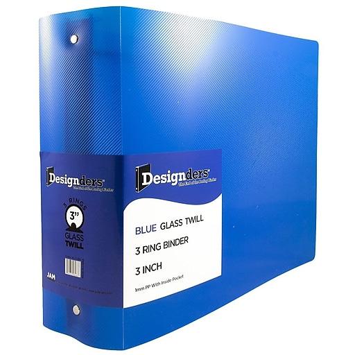 JAM Paper® Plastic 3 Ring Binder, 3 Inch, Blue, Sold