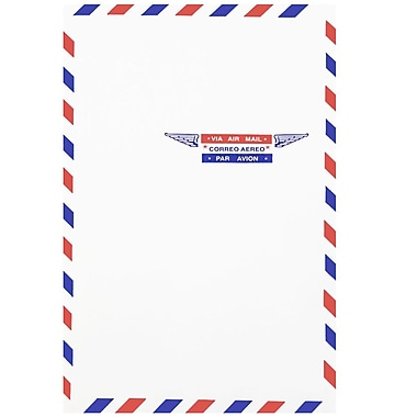 JAM Paper® Airmail 6 x 9 Open End Envelopes, 25/Pack