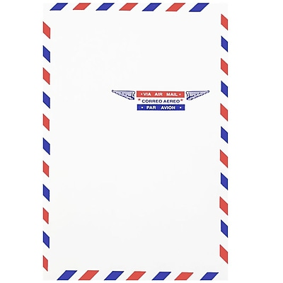 JAM Paper® Airmail 6 x 9 Open End Envelopes, 50/pack (1430743I)