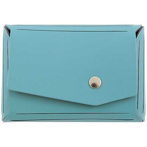 Jam paper leather business card case angular flap teal blue sold httpsstaples 3ps7is colourmoves