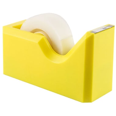 JAM Paper® Modern Tape Dispenser, Yellow, Sold Individually (338YE)