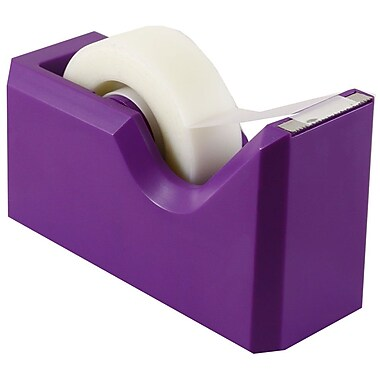 JAM Paper® Modern Tape Dispenser, Purple, Sold Individually (338PU)