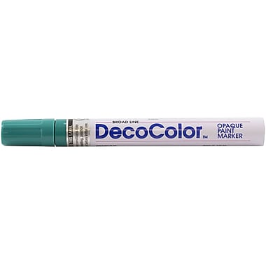 JAM Paper® Broad Point Opaque Paint Marker, Teal Blue, Sold Individually (526300TE)