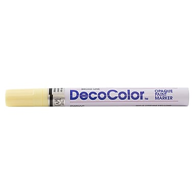 JAM Paper® Broad-Point Opaque Paint Marker, Cream Yellow (526300CY)