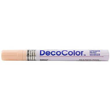 JAM Paper® Broad Point Opaque Paint Marker, Pastel Peach