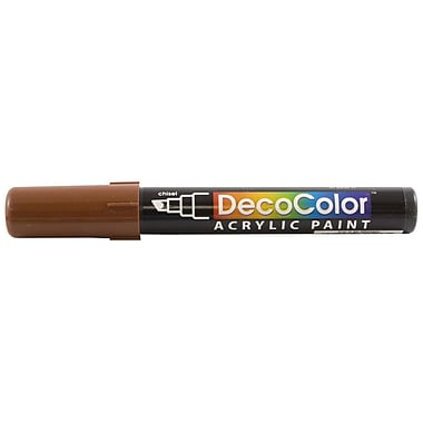 JAM Paper® Chisel Tip Acrylic Paint Marker - Brown - Sold Individually
