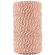 JAM Paper® Bakers Twine, Orange and White, 109 Yards, Sold Individually (349530311)