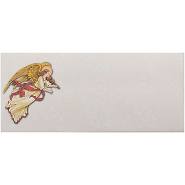 JAM Paper® #10 Business Christmas Holiday Envelopes, 4 1/8 x 9 1/2, Angel Design, 25/pack (52692702931)