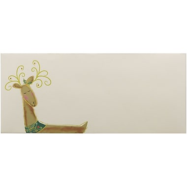 JAM Paper® #10 Business Christmas Holiday Envelopes, 4 1/8 x 9 1/2, Reindeer Design, 25/Pack (52692701866)
