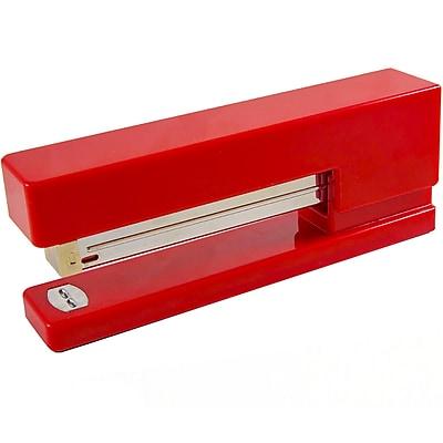 JAM Paper® Modern Desk Stapler, Red, Sold Individually (337RE)