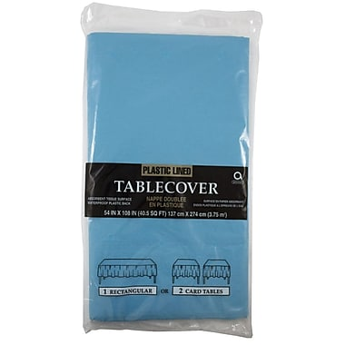 JAM Paper® Paper Table Covers, Sea Blue Table Cloths