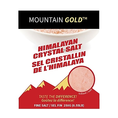 My Gourmet Mountain Gold Fine Table Salt, 250G Pack, 24 Packs/Case
