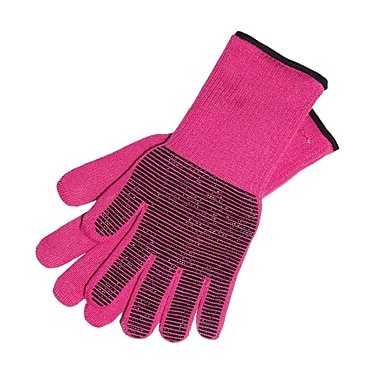 My Gourmet Steam Proof Oven Gloves, Pink, Pair