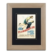 """Trademark Fine Art ''It's a Wonderful Life'' by Vintage Apple Collection 11"""" x 14"""" Black Matted Wood Frame (886511837669)"""