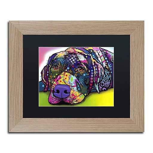 "Trademark Fine Art ''Savvy Labrador'' by Dean Russo 11"" x 14"" Black Matted Wood Frame (886511837904)"