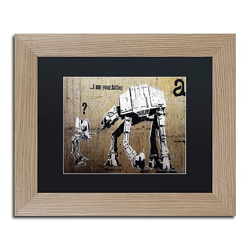 "Trademark Fine Art ''Your Father'' by Banksy  11"" x 14"" Black Matted Wood Frame (886511839502)"