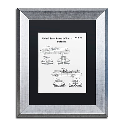 Trademark Fine Art ''Batmobile Car Patent 1966 White'' by Claire Doherty 11
