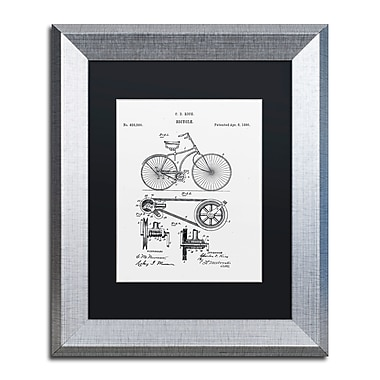 Trademark Fine Art ''Bicycle Patent 1890 White'' by Claire Doherty 11