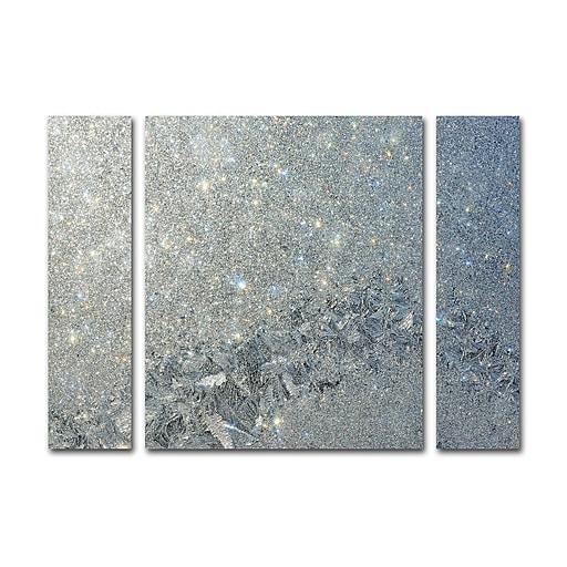 "Trademark Fine Art ''Frost Pattern Sun Stars'' by Kurt Shaffer 30"" x 41"" Multi Panel Art Set Large (886511916746)"