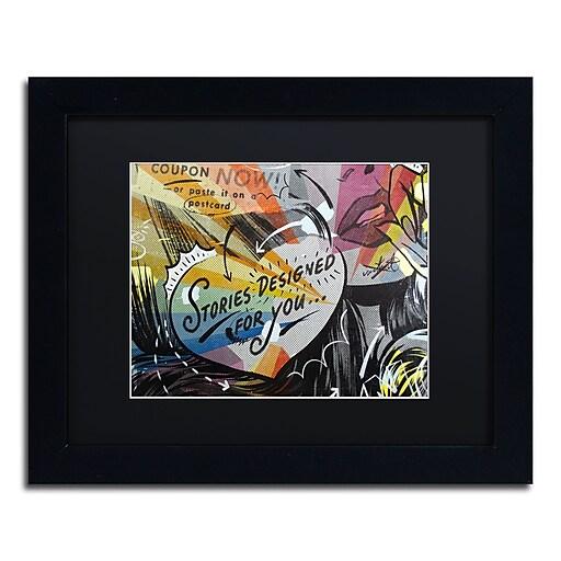 "Trademark Fine Art ''Coupon Stories'' by Dan Monteavaro 11"" x 14"" Black Matted Black Frame (886511778917)"