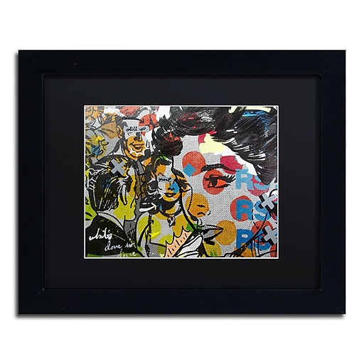 "Trademark Fine Art ''Dinner PA'' by Dan Monteavaro 11"" x 14"" Black Matted Black Frame (886511779006)"