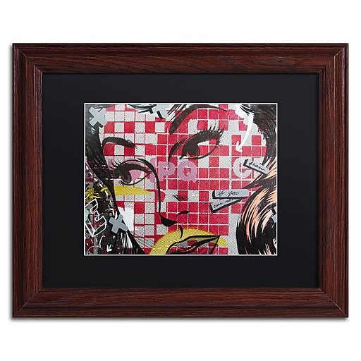"""Trademark Fine Art ''If You Can'' by Dan Monteavaro 11"""" x 14"""" Black Matted Wood Frame (886511779525)"""