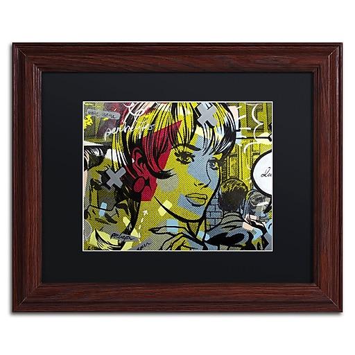 "Trademark Fine Art ''Man Hunter'' by Dan Monteavaro 11"" x 14"" Black Matted Wood Frame (886511779709)"