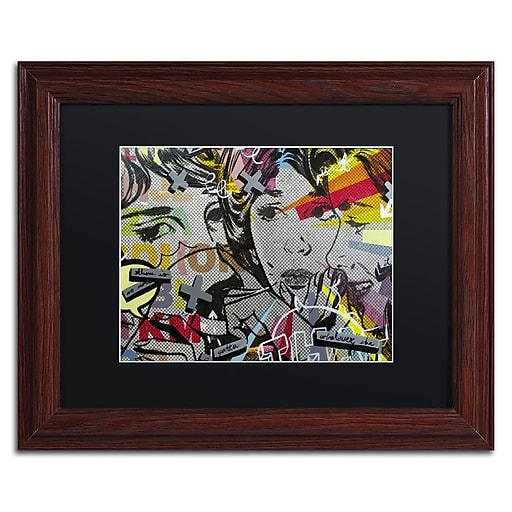 """Trademark Fine Art ''That There Is'' by Dan Monteavaro 11"""" x 14"""" Black Matted Wood Frame (886511780248)"""