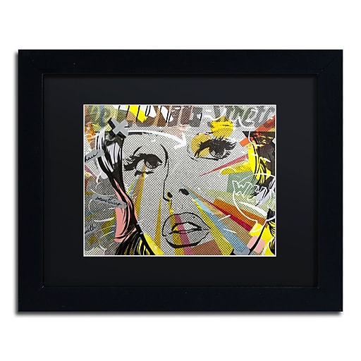 "Trademark Fine Art ''The Long Stretch'' by Dan Monteavaro 11"" x 14"" Black Matted Black Frame (886511780262)"