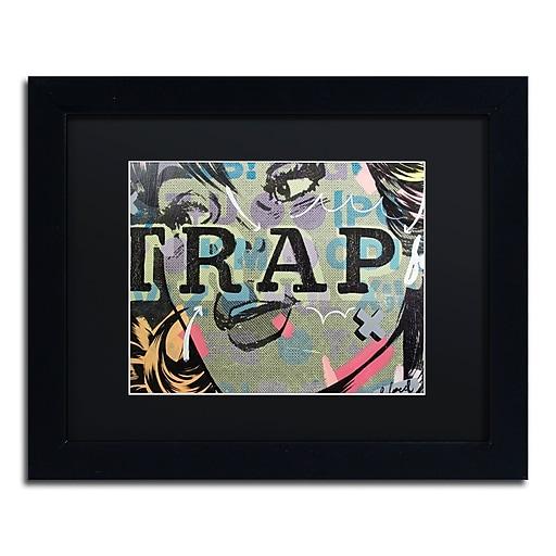 "Trademark Fine Art ''Trap'' by Dan Monteavaro 11"" x 14"" Black Matted Black Frame (886511780354)"