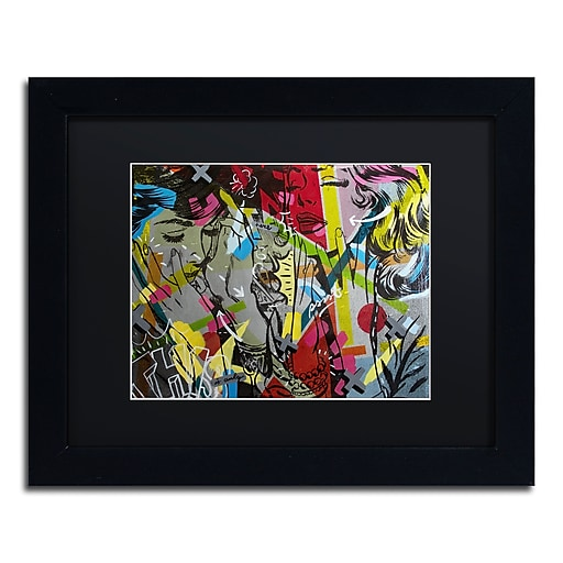 """Trademark Fine Art ''This is Only'' by Dan Monteavaro 11"""" x 14"""" Black Matted Black Frame (886511780804)"""