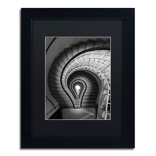 """Trademark Fine Art ''I Have An Idea'' by Moises Levy 11"""" x 14"""" Black Matted Black Frame (886511872233)"""