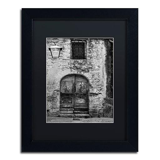 "Trademark Fine Art ''San Gimignano Door'' by Moises Levy 11"" x 14"" Black Matted Black Frame (886511874473)"