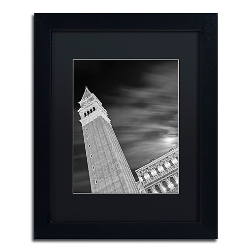 """Trademark Fine Art ''San Marco Sky'' by Moises Levy 11"""" x 14"""" Black Matted Black Frame (886511874718)"""