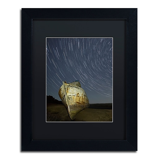 "Trademark Fine Art ''Point Reyes II'' by Moises Levy 11"" x 14"" Black Matted Black Frame (886511876316)"