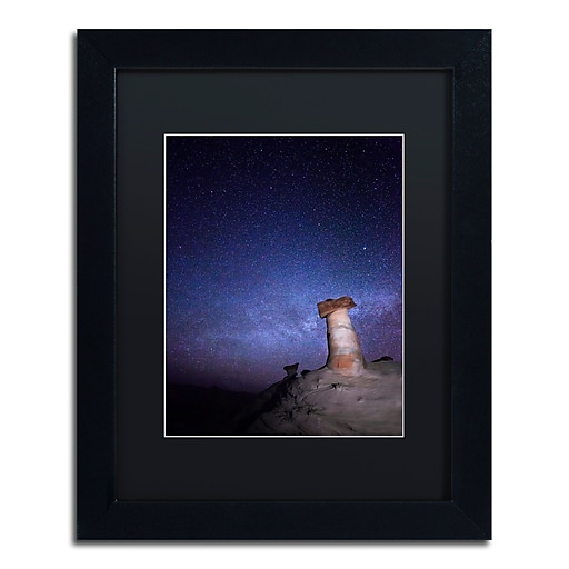 """Trademark Fine Art ''Starry Night in Arizona I'' by Moises Levy 11"""" x 14"""" Black Matted Black Frame (886511878471)"""