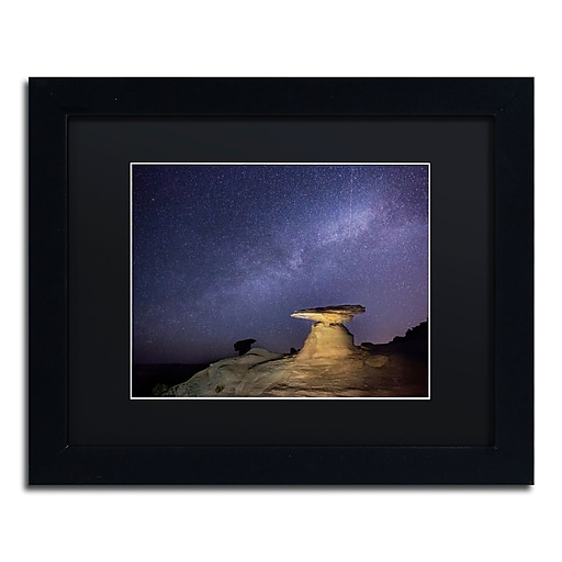 "Trademark Fine Art ''Starry Night in Arizona III'' by Moises Levy 11"" x 14"" Black Matted Black Frame (886511878594)"