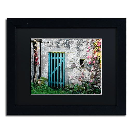"Trademark Fine Art ''The Old Wooden Door'' by Philippe Sainte-Laudy 11"" x 14"" Black Matted Black Frame (886511799363)"