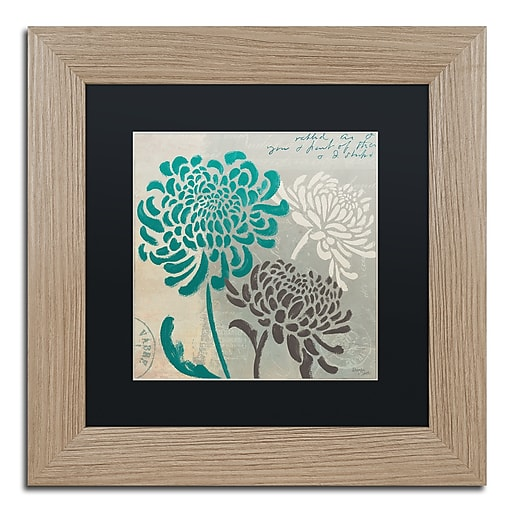 "Trademark Fine Art ''Chrysanthemums I'' by Wellington Studio 11"" x 11"" Black Matted Wood Frame (886511860469)"