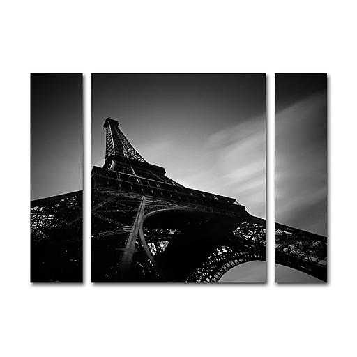 "Trademark Fine Art ''Eiffel I'' by Moises Levy 24"" x 32"" Multi Panel Art Set (886511904972)"