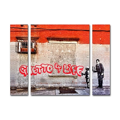 Trademark Fine Art ''Ghetto For Life'' by Banksy 30