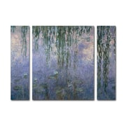 "Trademark Fine Art ''Water Lilies III 1840-1926'' by Claude Monet 24"" x 32"" Multi Panel Art Set (886511916456)"