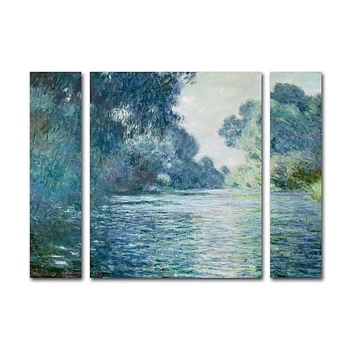 "Trademark Fine Art ''Branch of the Seine'' by Claude Monet 24"" x 32"" Multi Panel Art Set (886511916531)"
