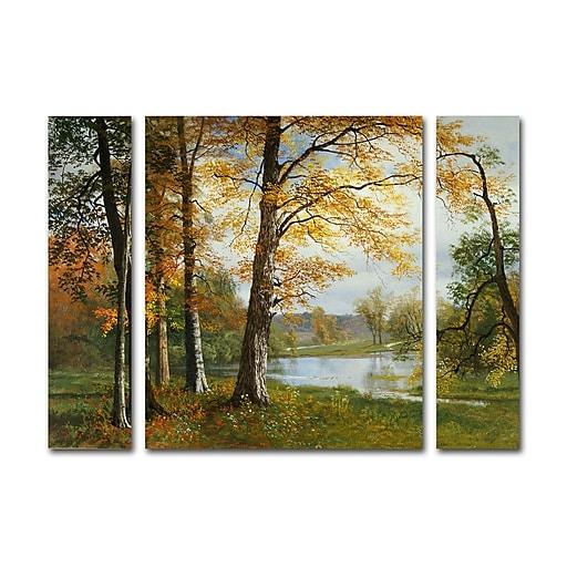 "Trademark Fine Art ''A Quiet Lake'' by Albert Bierstadt 24"" x 32"" Multi Panel Art Set (886511916555)"