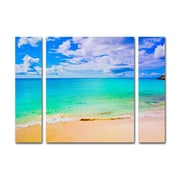 "Trademark Fine Art ''Maho Beach'' by Preston 30"" x 41"" Multi Panel Art Set Large (886511916623)"
