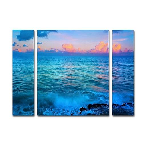 """Trademark Fine Art ''St. Marten's Sunset'' by Preston 24"""" x 32"""" Multi Panel Art Set (886511916654)"""