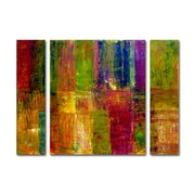 "Trademark Fine Art ''Color Abstract'' by Michelle Calkins 30"" x 41"" Multi Panel Art Set Large (886511916845)"