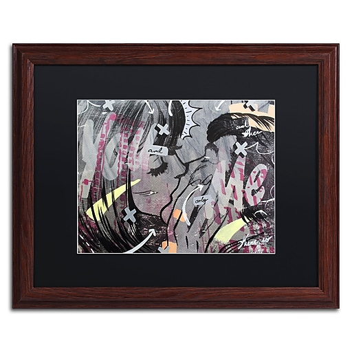 """Trademark Fine Art ''And Only'' by Dan Monteavaro 16"""" x 20"""" Black Matted Wood Frame (886511778726)"""