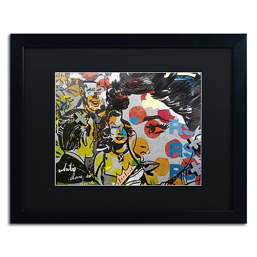 "Trademark Fine Art ''Dinner PA'' by Dan Monteavaro 16"" x 20"" Black Matted Black Frame (886511779020)"